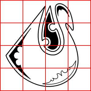 как наложить на изображение сетку